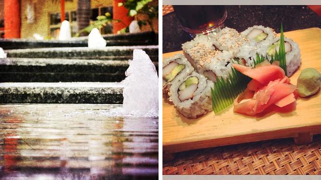 Mall ⇨ Sushi restaurant