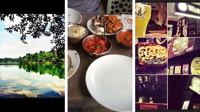 Nature preserve ⇨ Indian restaurant ⇨ Bar