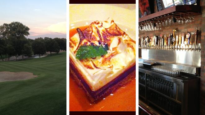 Golf course ⇨ Italian restaurant ⇨ Beer garden