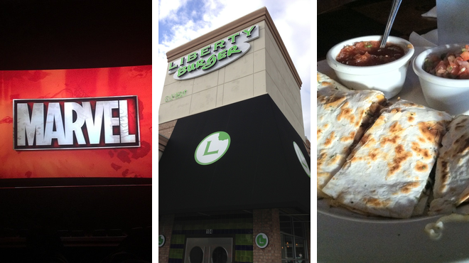 Catch a movie ⇨ Burger joint ⇨ Bar