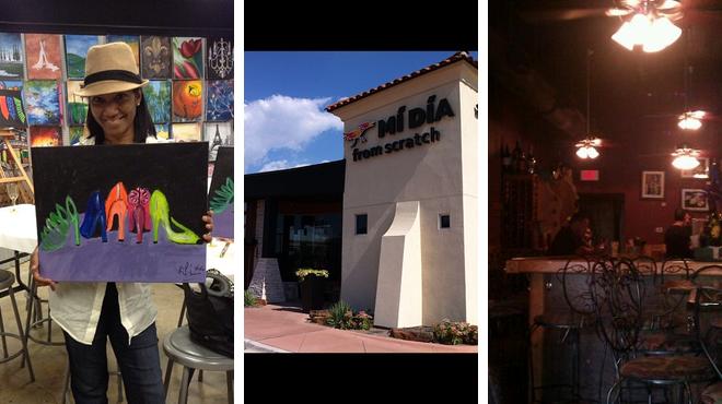 Admire art ⇨ Mexican restaurant ⇨ Wine bar