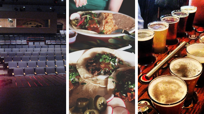 Theater ⇨ Mexican restaurant ⇨ Brewery