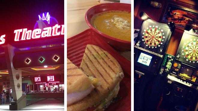 Catch a movie ⇨ Restaurant ⇨ Bar