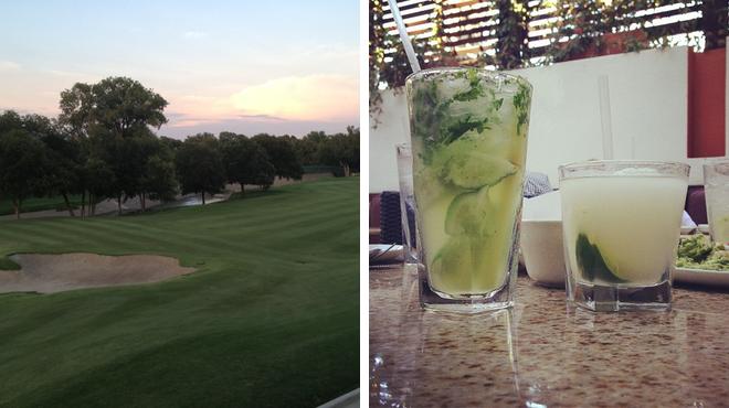 Golf course ⇨ Mexican restaurant
