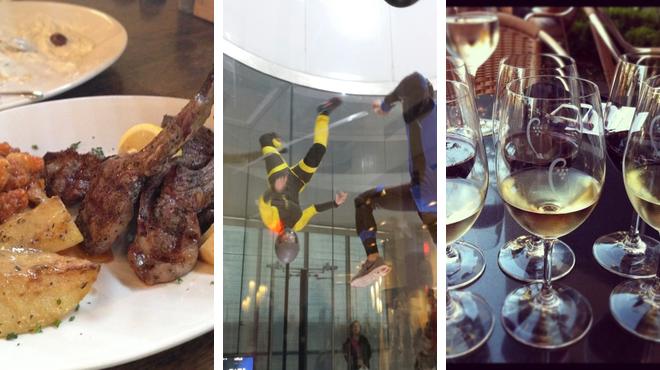 Greek restaurant ⇨ Theme park ride / attraction ⇨ Wine bar