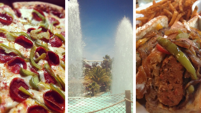 Italian restaurant ⇨ Water park ⇨ Sports bar