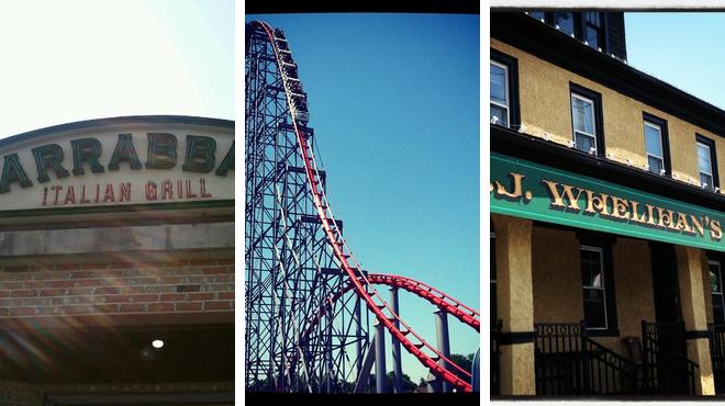 Italian restaurant ⇨ Theme park ⇨ Sports bar