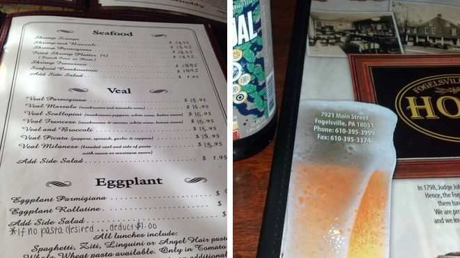 Italian restaurant ⇨ Hotel bar