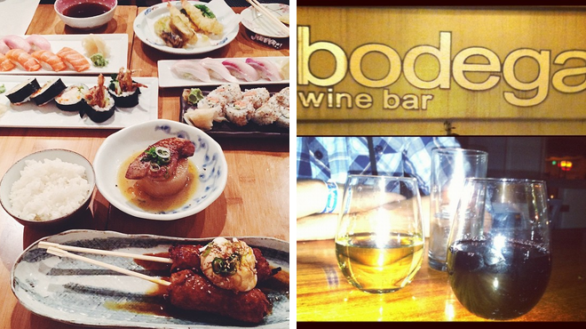 Japanese restaurant ⇨ Wine bar