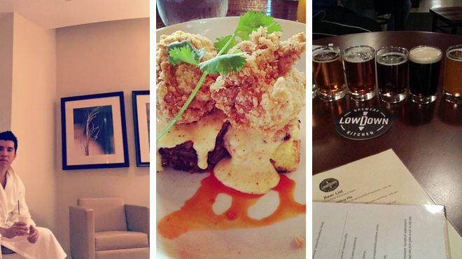 Couple's Massage ⇨ Southern / soul food restaurant ⇨ Brewery