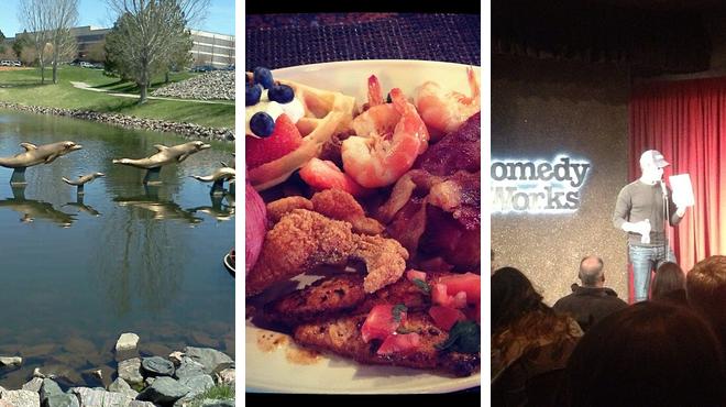 Park ⇨ Seafood restaurant ⇨ Laugh out loud