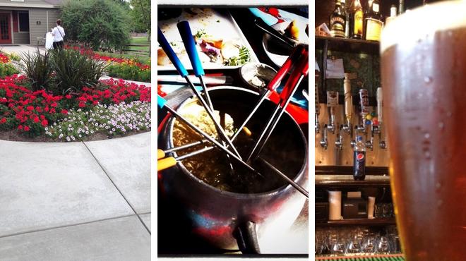 Garden ⇨ Fondue restaurant ⇨ Bar