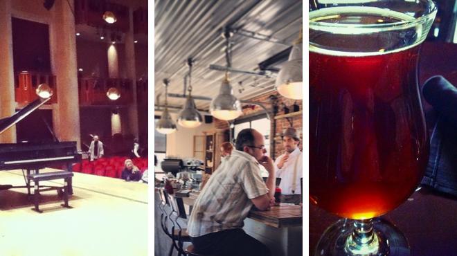 Catch a show ⇨ Coffee shop ⇨ Bar