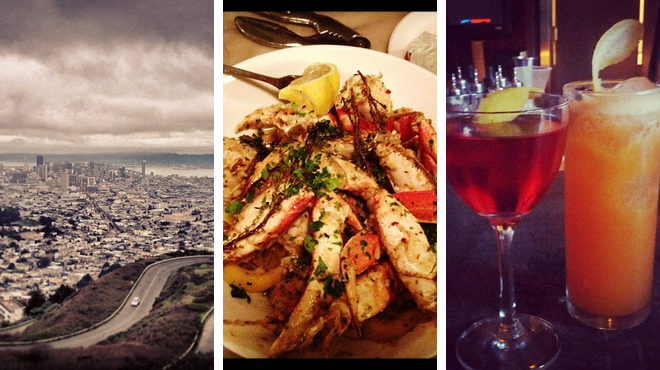 Scenic Views ⇨ Seafood restaurant ⇨ Delicious Cocktails