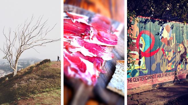 Park ⇨ Spanish restaurant ⇨ Admire local art
