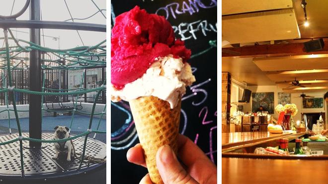 Playground ⇨ Ice cream shop ⇨ Bar