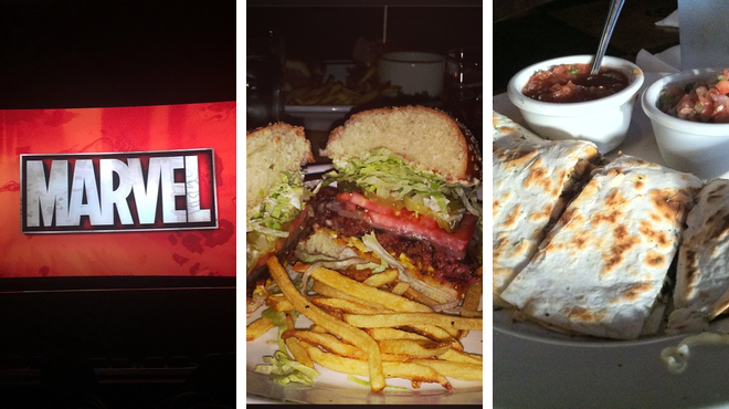 Catch a movie ⇨ Steakhouse ⇨ Bar