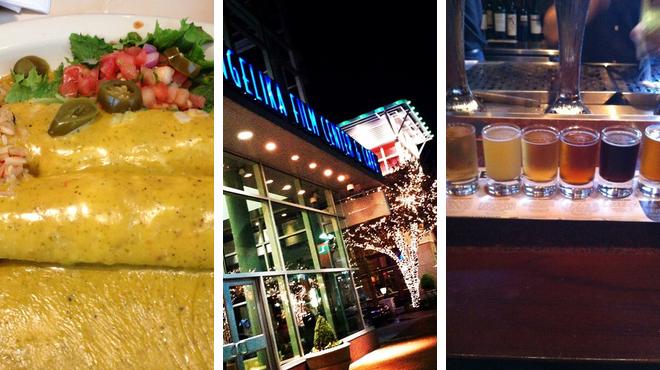 Mexican restaurant ⇨ Catch a movie ⇨ Bar