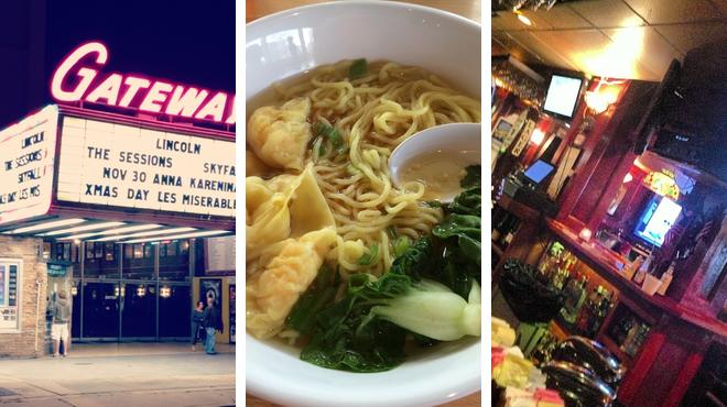 Catch a movie ⇨ Asian restaurant ⇨ Bar