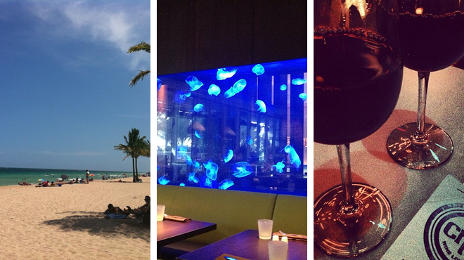 Beach ⇨ Steakhouse ⇨ Wine bar