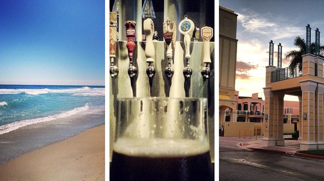 Surf spot ⇨ American restaurant ⇨ Catch a show