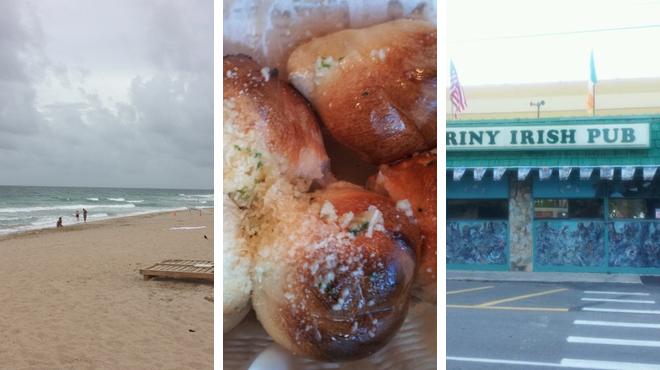 Beach ⇨ Italian restaurant ⇨ Pub