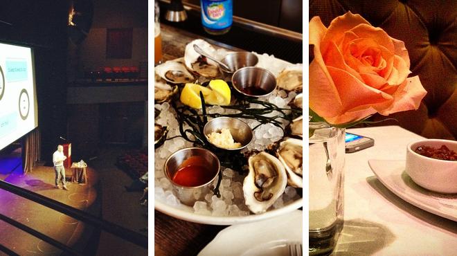 Catch a show ⇨ Seafood restaurant ⇨ Hotel bar