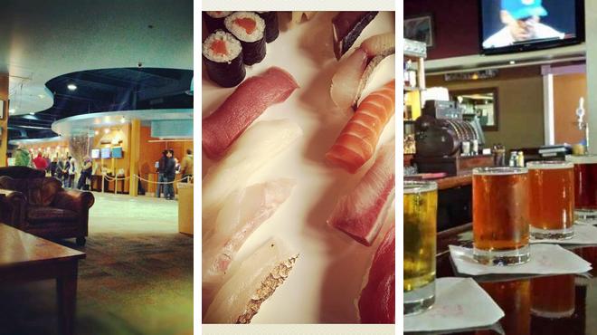 Catch a movie ⇨ Sushi restaurant ⇨ Brewery