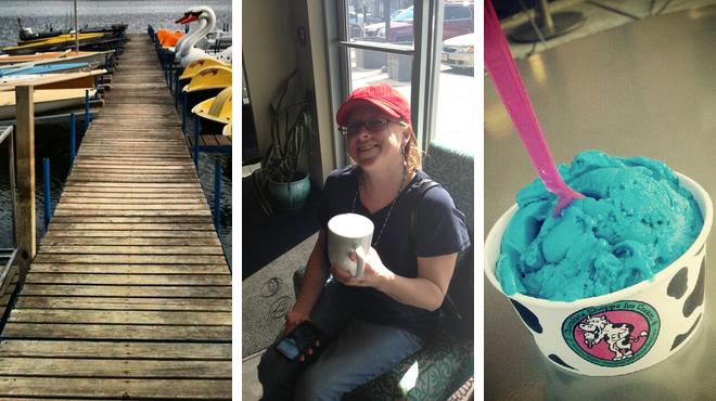 Park ⇨ Couple's Massage ⇨ Ice cream shop