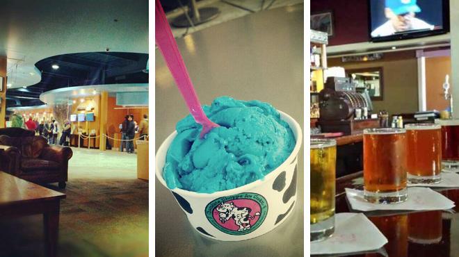 Catch a movie ⇨ Ice cream shop ⇨ Brewery