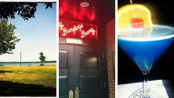 Park ⇨ Burger joint ⇨ Delicious Cocktails