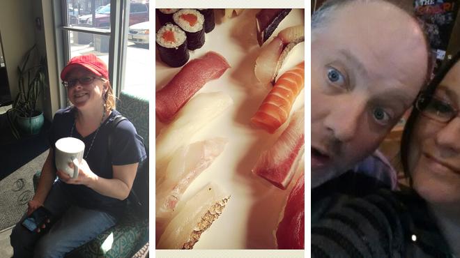 Couple's Massage ⇨ Sushi restaurant ⇨ Bar