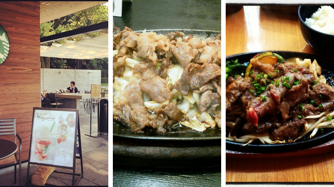 Coffee shop ⇨ Sukiyaki restaurant ⇨ Bar