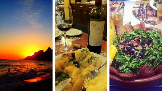 Beach ⇨ Portuguese restaurant ⇨ Bar