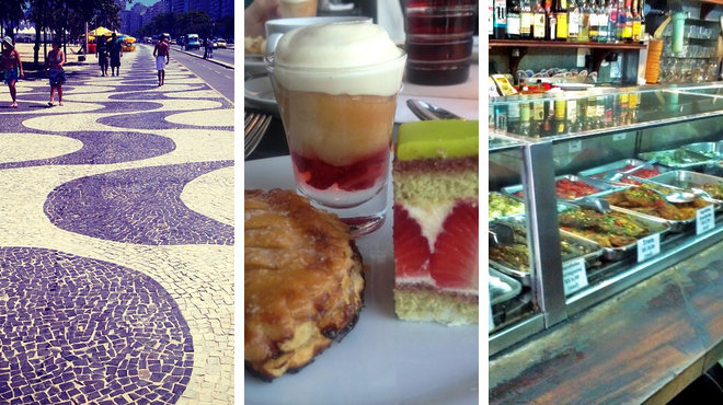Pedestrian plaza ⇨ French restaurant ⇨ Bar