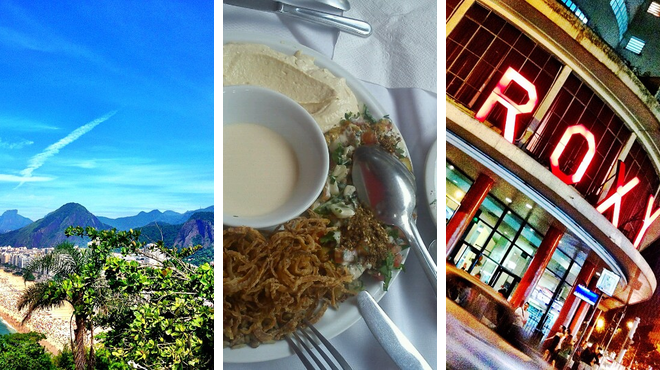 Scenic Views ⇨ Middle eastern restaurant ⇨ Catch a movie