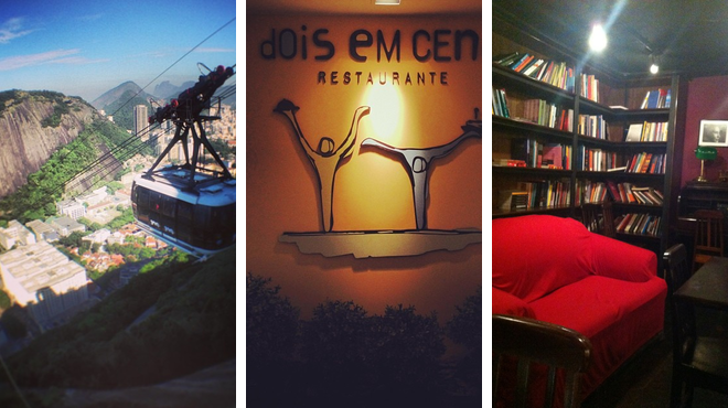 Trail ⇨ Brazilian restaurant ⇨ Bookstore
