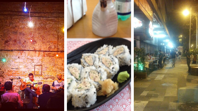 Music venue ⇨ Japanese restaurant ⇨ Beer garden