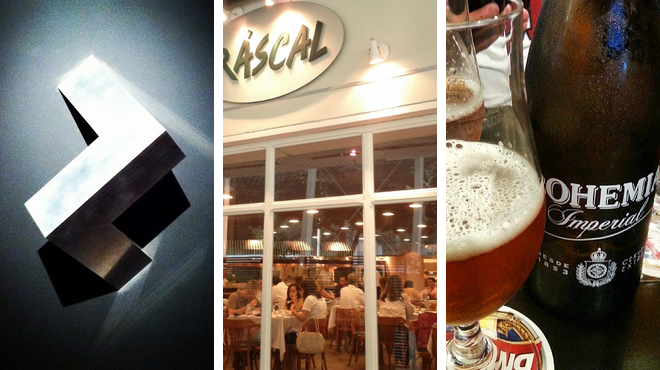 Admire art ⇨ Mediterranean restaurant ⇨ Bar