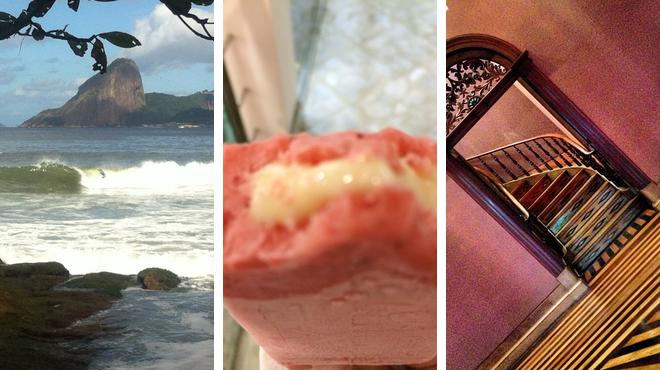 Beach ⇨ Ice cream shop ⇨ Admire art