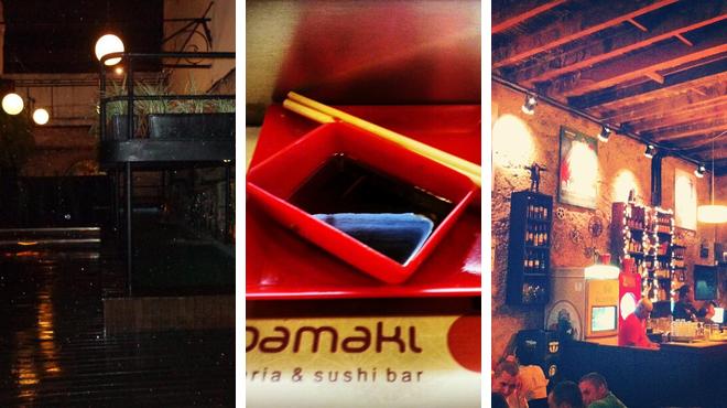 Music venue ⇨ Japanese restaurant ⇨ Bar