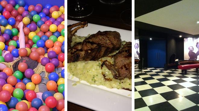 Playground ⇨ Restaurant ⇨ Catch a movie