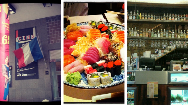 Theater ⇨ Japanese restaurant ⇨ Bar