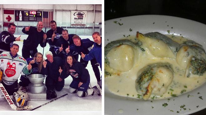 Skating rink ⇨ Italian restaurant