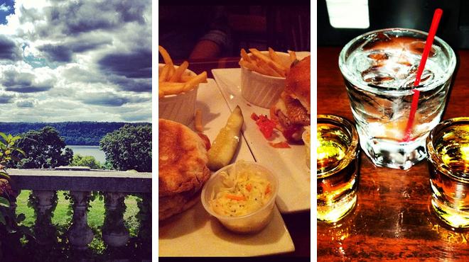 Garden ⇨ Burger joint ⇨ Bar