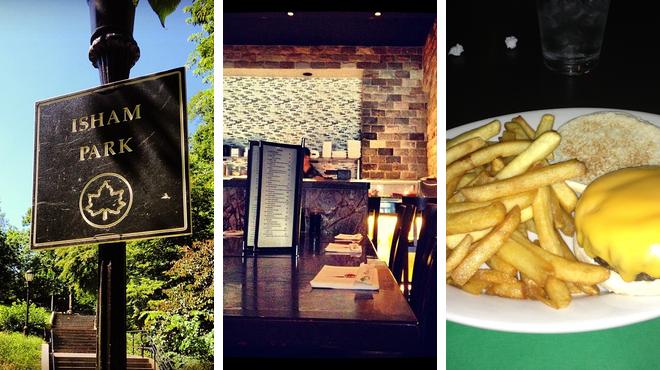Park ⇨ Japanese restaurant ⇨ Sports bar