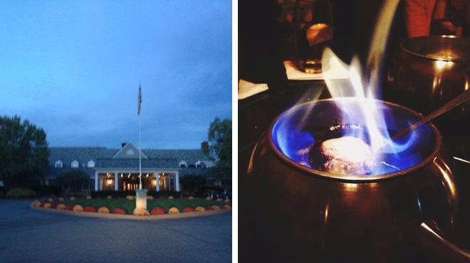 Golf course ⇨ Fondue restaurant