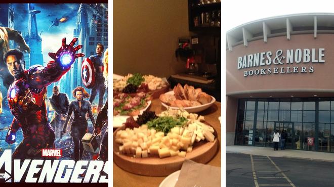 Catch a movie ⇨ Italian restaurant ⇨ Bookstore