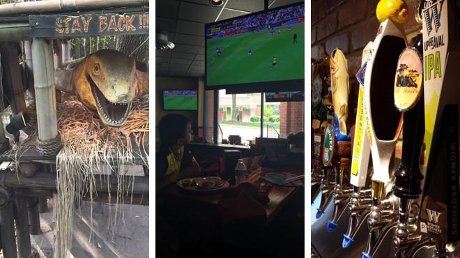 Play mini golf ⇨ American restaurant ⇨ Bar