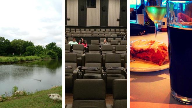 Park ⇨ Catch a movie ⇨ Italian restaurant